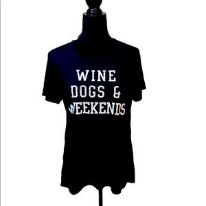 Wine dogs and weekends T-shirt